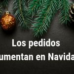 El número de pedidos durante la Navidad aumentó en un 190%