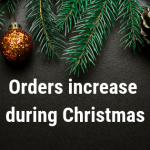 Number of parcels during Christmas had an increase of 190%